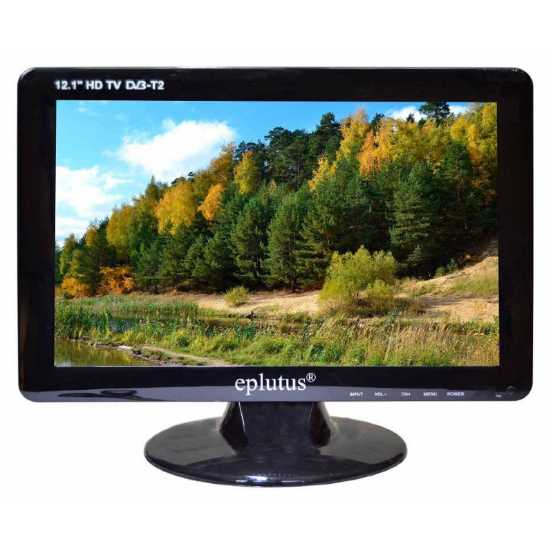 Телевизор с цифровым тюнером DVB-T2 Eplutus EP-122T, 12,1 дюйм